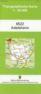 Topographische Karte Baden-Württemberg Adelsheim