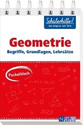 Pocketblock Geometrie - Begriffe, Grundlagen, Lehrsätze