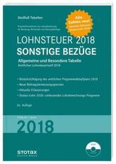 Tabelle, Lohnsteuer 2018 Sonstige Bezüge