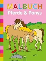 Malbuch Pferde & Ponys