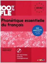 100% FLE - Phonétique essentielle du français A1/A2, m. MP3-CD
