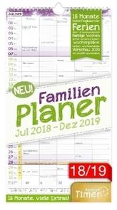FamilienPlaner 18 Monate 18/19 Wandkalender