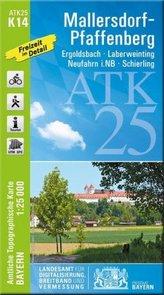 ATK25-K14 Mallersdorf-Pfaffenberg (Amtliche Topographische Karte 1:25000)