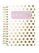 Hard Bound Journal: Gold Dot - Hardcover-Notizbuch mit stabiler Ringbindung: Goldene Punkte