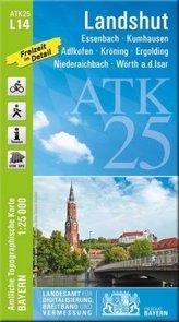 ATK25-L14 Landshut (Amtliche Topographische Karte 1:25000)