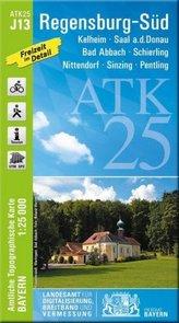 ATK25-J13 Regensburg-Süd (Amtliche Topographische Karte 1:25000)