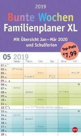 Bunte Wochen FamilienPlaner XL 2019