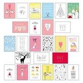25 handgemachte Weihnachtskarten. Tl.2