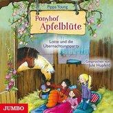 Ponyhof Apfelblüte - Lotte und die Übernachtungsparty, 1 Audio-CD