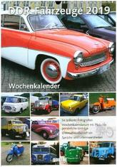 DDR Fahrzeuge, Wochenkalender 2019