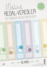 Meine Regal-Veredler live - love - teach: 30 Ordner-Rückenschilder - alle Fächer - blanko