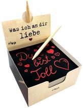 Was ich an dir liebe - Der Kratzblock für liebevolle Botschaften