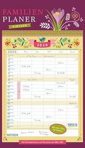 Familienplaner Vintage 2020