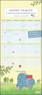 Happy Family Familienkalender 2020 - Wandkalender - Familien-Planer mit 5 Spalten - Format 22 x 49,5 cm