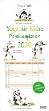 Yoga für Kühe Familienplaner 2020 - Wandkalender - Familien-Kalender mit 6 Spalten - Format 22 x 49,5 cm
