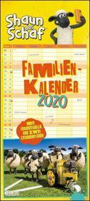 Shaun das Schaf Familienkalender 2020 - Wandkalender - Familienplaner mit 5 Spalten