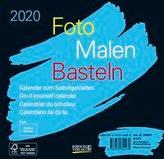 Foto-Malen-Basteln Bastelkalender schwarz quer 2020