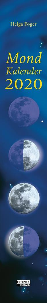 Mondkalender 2020 Streifenkalender