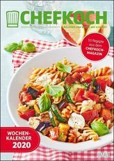 Chefkoch Wochenkalender 2020 - Küchen-Kalender mit 53 Rezepten - Format 21,0 x 29,7 cm - Spiralbindung