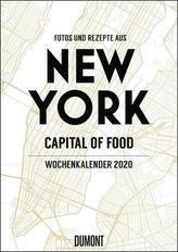 New York Wochenkalender 2020 - Küche und Lifestyle im Big Apple - Kalender mit 53 Monatsblättern