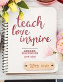 Lehrerplaner 2019-2020 Schulplaner für die Unterrichtsvorbereitung für das neue Schuljahr - Lehrerkalender 2019 - 2020  Ein Plan